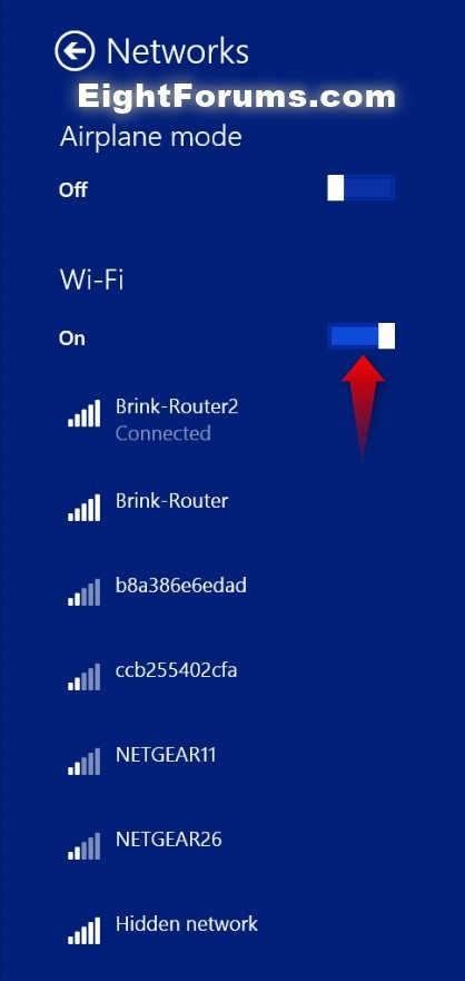 Wi Fi Turn On Or Off In Windows 8 Windows 8 Help Forums