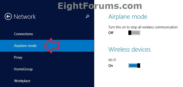 Airplane Mode Turn On Or Off In Windows 8 Windows 8 Help Forums