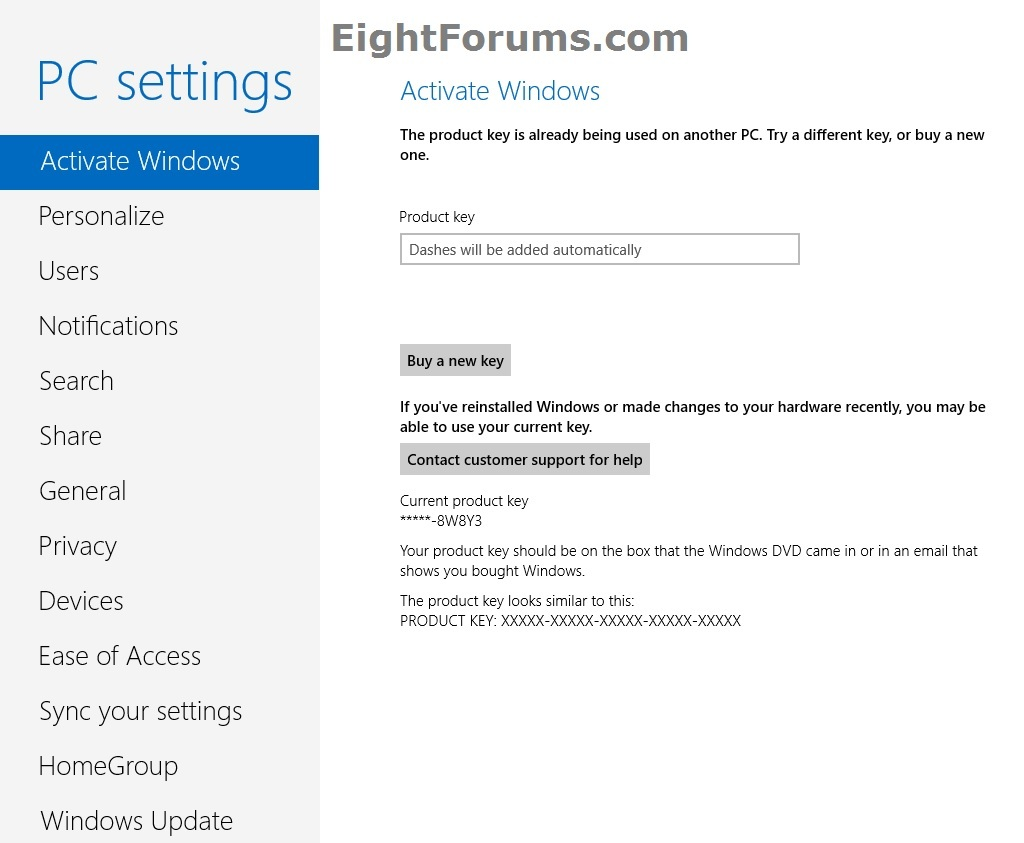 activate windows 8 by phone key