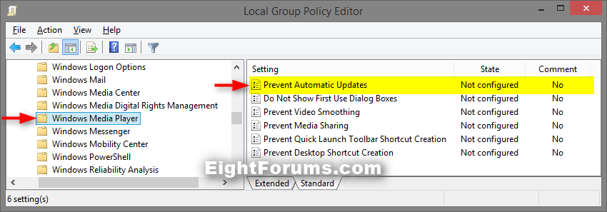 Windows Media Player Automatic Updates - Enable or Disable