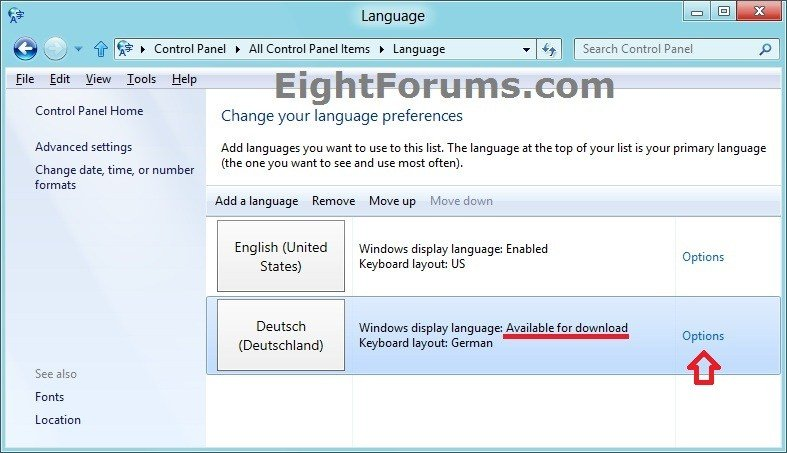 Language Pack - Install or Uninstall in Windows 8 | Windows 8 Help