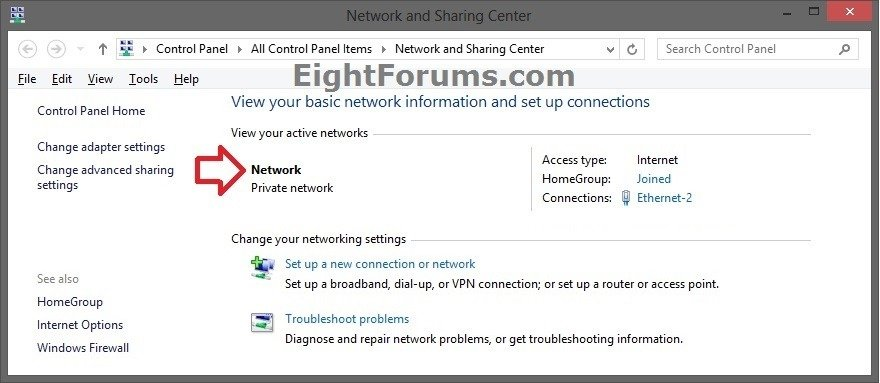 windows change network to private