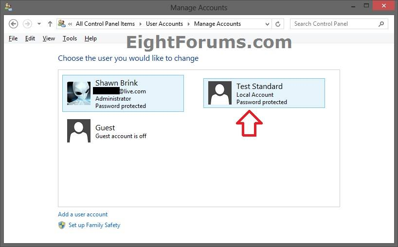 Local Account Password - Change or Remove in Windows 8