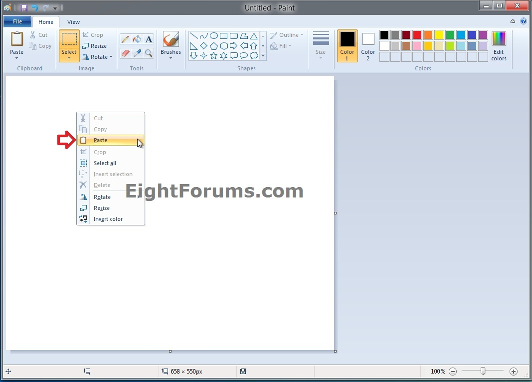 how to copy and paste from pdf to paint
