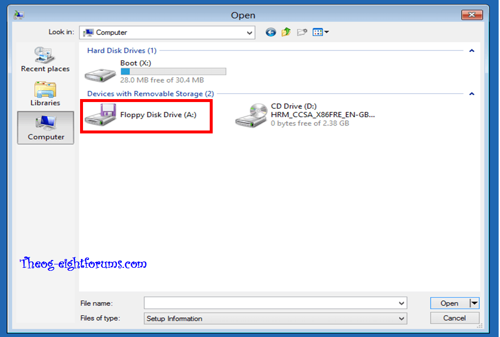 SATA Drivers - Load in Windows 8 System Image Recovery