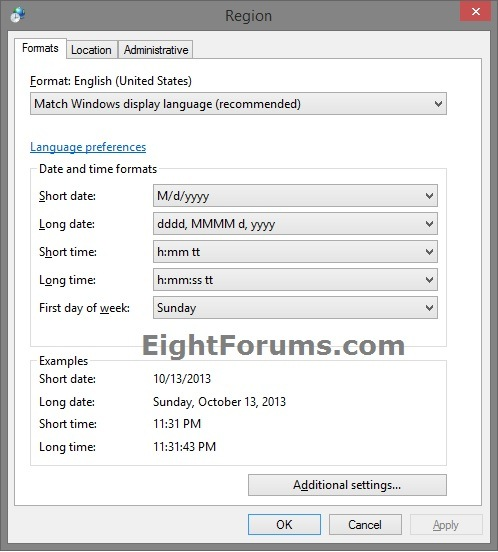 Date and time format change in windows 8 tutorial windows 8 help regionformats 1g publicscrutiny Gallery