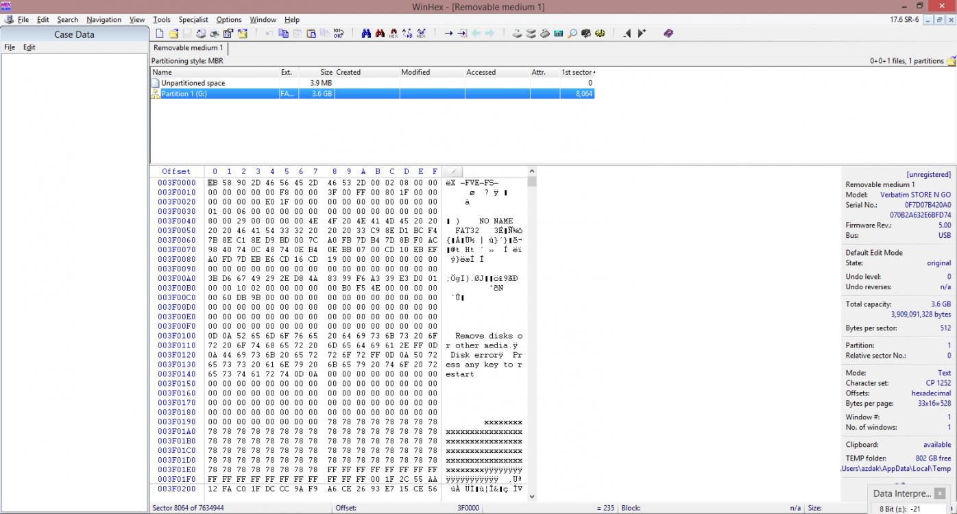 WinHex Output (test disk + bitlocker - partition).png
